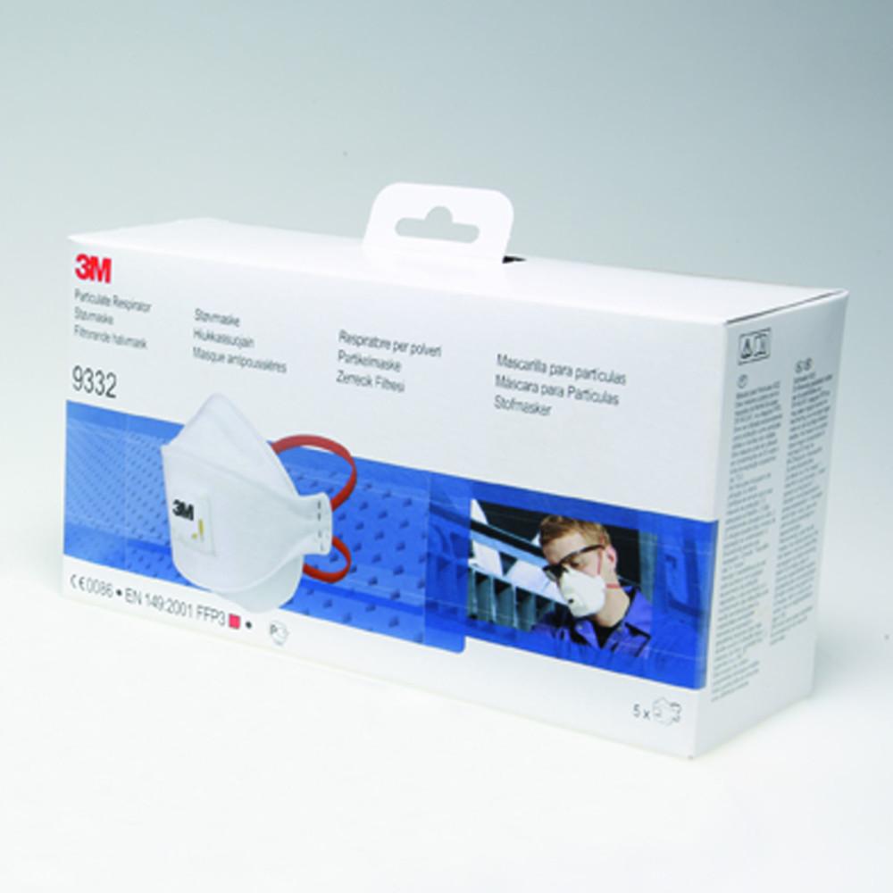 3M™ Masque FFP3 - 9332 EXCELA - Boîtes de 5 masques