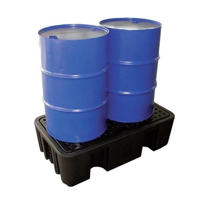 Bacs de rétention 2 fûts PEHD - 250 L