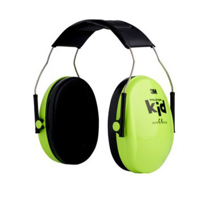 CASQUE ANTI-BRUIT PELTOR KID VERT NEON