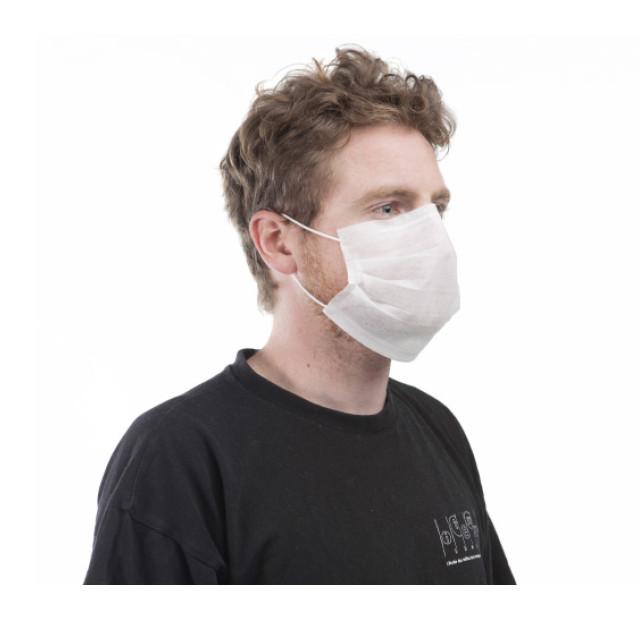 Masque hygiène non tissé 2 plis - Boite de 50 masques