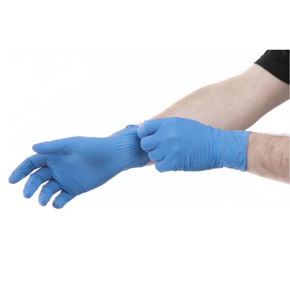 Boîte de 100 gants jetables bleus non poudrés - T.S