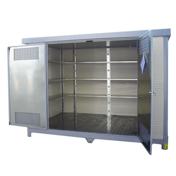 Magasin de stockage phytosanitaire PREMIUM 6m² - Avec 3 étagères