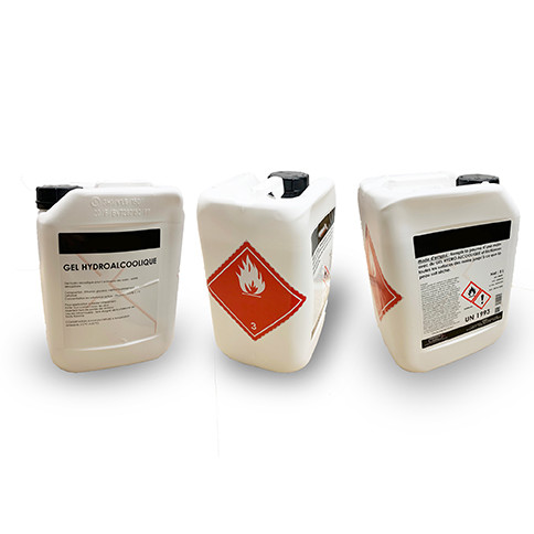 Gel hydoalcoolique - bidon de 5 litres